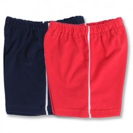Set pantaloni scurti rosii si bleumarine - pentru copii mai maricei!