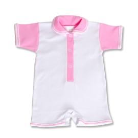 Salopeta scurta roz pentru bebe