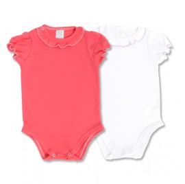 Set body alb si roz pentru fetite