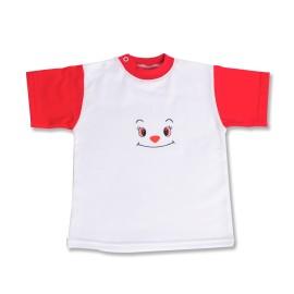 Tricou bebe alb cu rosu