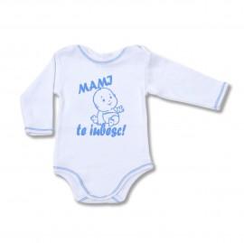 "Body bebe cu mesaj ""Mami, te iubesc"""
