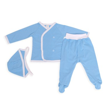 Costumas bleu cu trei piese