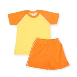 Costumas de vara galben cu portocaliu