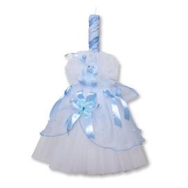 Lumanare bleu pentru botez