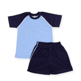 Costumas de vara bleu cu bleu-marine