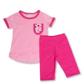 Bluzita roz si colanti siclam pentru copii