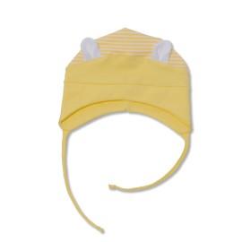 Caciula galbena cu urechi pentru bebe