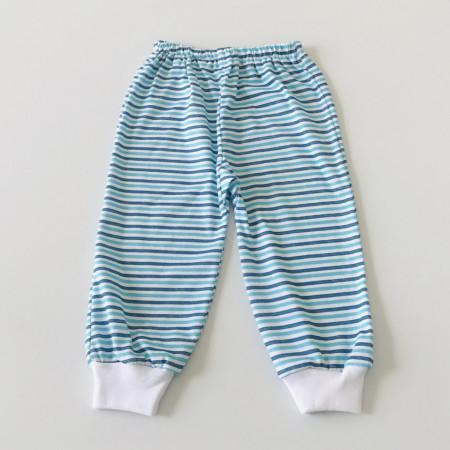 Pantalon bebe cu dungi albastre