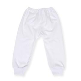 Pantalonas alb cu manseta