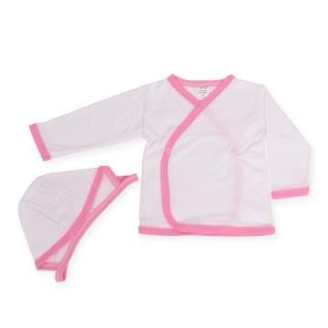 Poze Bluzita si caciulita cu margini roz