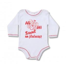 Body bebe cu mesaj fluturas