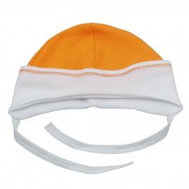 Caciulita portocalie din bumbac