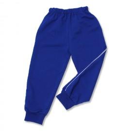 Pantalon trening bebe albastru cu vipusca