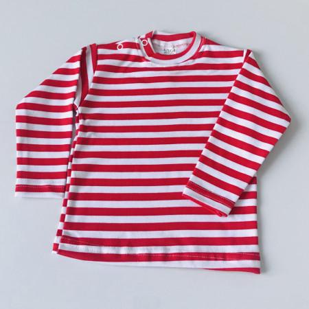Bluza cu dungi rosii
