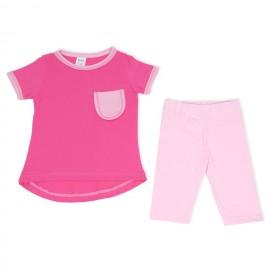 Bluzita si colanti roz pentru copii