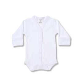 Body bebe alb cu manusi