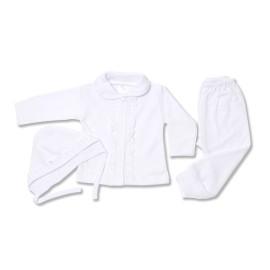 Costumas alb cu dantela