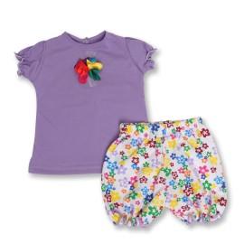 Costumas lila pentru fetite