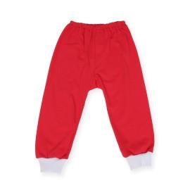 Pantalonas rosu cu manseta