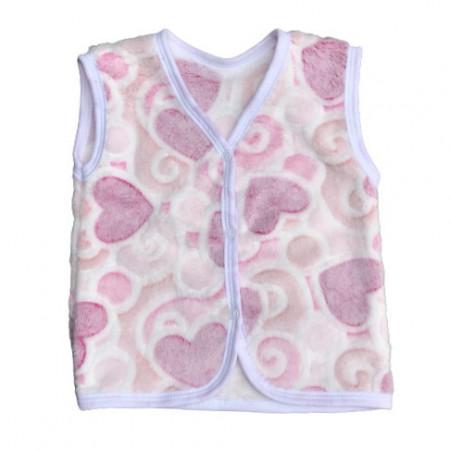 Vesta cu inimioare roz