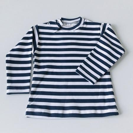 Bluza cu dungi bleumarine