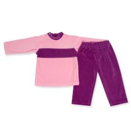Costumas catifea roz cu mov
