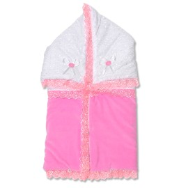 Port bebe din catifea roz