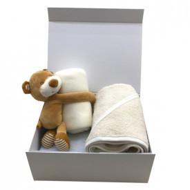 Cadou nou nascut: prosop si pled ivoire cu ursulet
