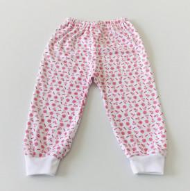Pantalon bebe cu ancore mici rosii