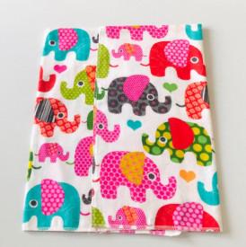 Scutec bumbac - finet imprimat elefanti