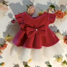 Rochita rosie cu crem