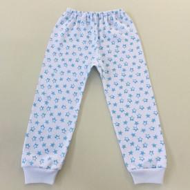Pantalon bebe cu stelute bleu