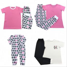 Pijamale cu imprimeu pentru familie - set 2 adulti si copil