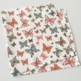Scutec bumbac - finet imprimat cu fluturi
