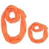 Set esarfa mama si copil - portocaliu
