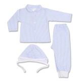 Costumas bebe cu imprimeu albastru