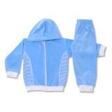 Trening bebe din catifea bleu