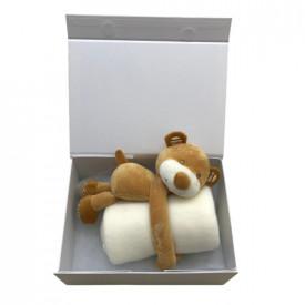 Cadou nou nascut: pled ivoire cu ursulet