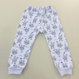 Pantalon bebe iepuras cu albastru