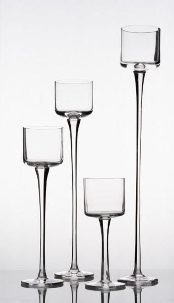 Set sfesnice sticla inalte Uma H 20-50 cm
