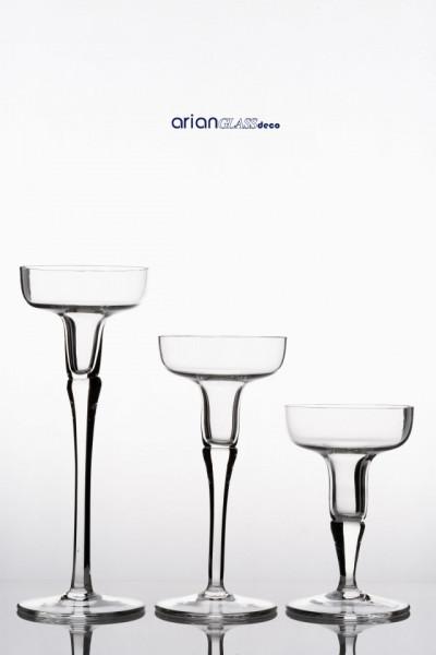 Set sfesnice sticla Tara H 15-25 cm