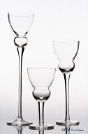 Set sfesnice sticla inalte Lemona H 20-40 cm