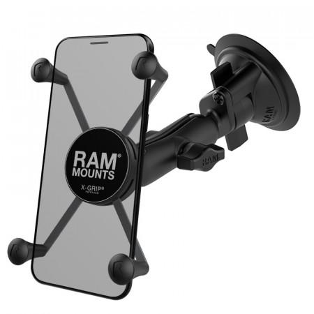 Komplett telefon tartó szett szélvédőre vagy sík felületre (vákuumos rögzítéssel) Xtra nagy telefonhoz