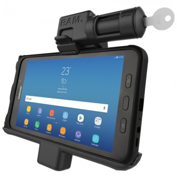 RAM kulccsal zárható bölcső Samsung Galaxy Tab® Active2 és Active 8.0-hoz, menet közbeni töltéssel