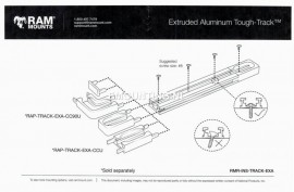 "RAM® Tough-Track™ alumínium moduláris sín(rendszer), 9"""