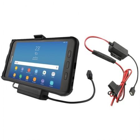 RAM® EZ-Roll'r™ Töltő és Adatkapcsolatos tartó bölcső Samsung Galaxy Tab® Active2/3-hoz