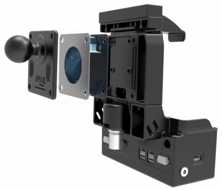 RAM® Shock Buster™ rázkódást csillapító adapter 75 mm-es VESA lyukakkal