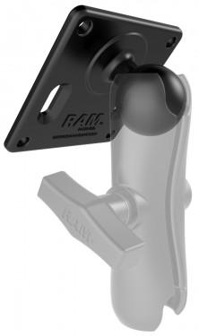 """RAM 75x75mm négyzetes tartó VESA rögzítési lyukakkal és 1,5""""-es golyóval"""