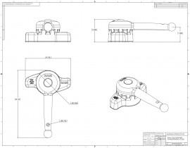 """RAM Hi-Torq™ szerszám D méretű 2,25""""-os golyós rendszer szereléséhez"""