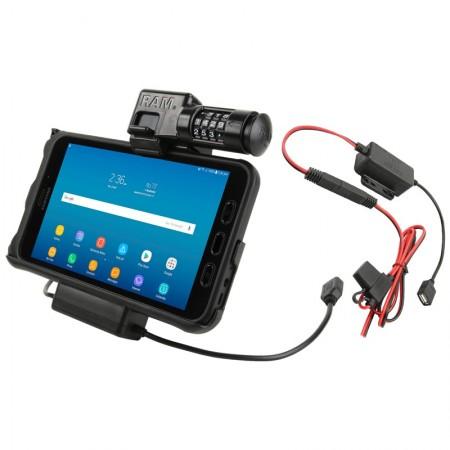 RAM® EZ-Roll'r™ számzáras Töltő és Adatkapcsolatos tartó bölcső Samsung Galaxy Tab® Active2-höz